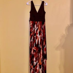 Abstract Patterned Maxi Dress
